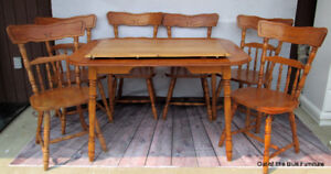 Solid Maple dining set w/6 chairs