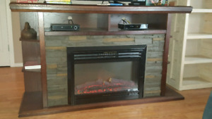 Electric fire place/ t.v. stand