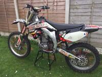 Honda crf 450 Motocross bike not kxf rmz crf yzf 125 250