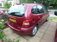 Renault Scenic Burgundy with 2 spare wheels and new seat covers (boxed).Twin sunroofs .6 months MOT