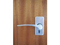 Doors (internal) Sapele & Sapele / White--8 in total complete with hinges, handles, locks & screws