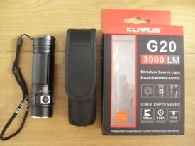 Torch/ Flashlight. Klarus G20 3000 lumens