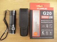 Torch/ Flashlight. Klarus G20 3000 lumens