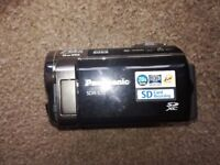 PANASONIC DIGITAL CAMERA. SD CARD. SHUTTER FOR LENSE PROTECTION. TAKES TRIPOD AND OTHER STANDS