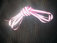 Reflective, OneTie o/ Brand shoelaces, 120 cms, 4 colours. Special laces that stay tied.
