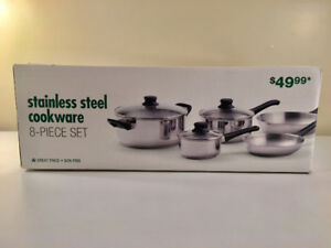 Brand new stainless steel cookware set