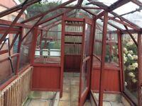 Alton cedar wood Amateur greenhouse 12'L x 10'W £60
