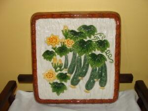 magnique tableau en céramique images de zucchinis