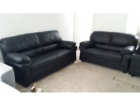 Brand NEW 2+3 Seater Sofas Black Leather Suits CAN DELIVER!!!