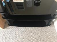 2x Black Glass TV stands