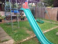 TP Climbing frame with enormous slide & 3 swings & monkey bar 2