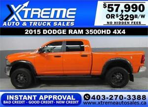 2015 DODGE RAM DIESEL LIFTED *INSTANT APPROVED* $0 DOWN $329/BW!