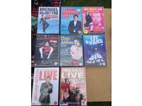8x Comedy DVDs stand up