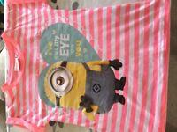 Girl's Minion t-shirt age 7-8
