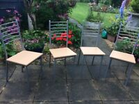 Four attractive dining room chairs. Almost new.