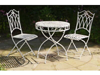 WANTED WHITE METAL BISTRO SET - RUSTY IS FINE !