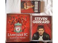 3 x Books 'Liverpool FC/ Steven Gerrard' £3 FOR ALL