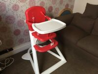 Lindam red and white baby high chair - from grandma's house