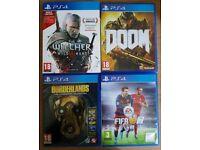 PS4 game bundle sale or swap