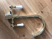 Gold kitchen tap