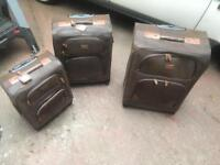 Kangol luggage set, 3 designer suitcases
