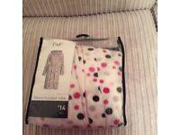 Polka dot dressing gown on medium