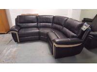 New Display item Electric Recliner Black 3 Piece Corner Sofa **CAN DELIVER**