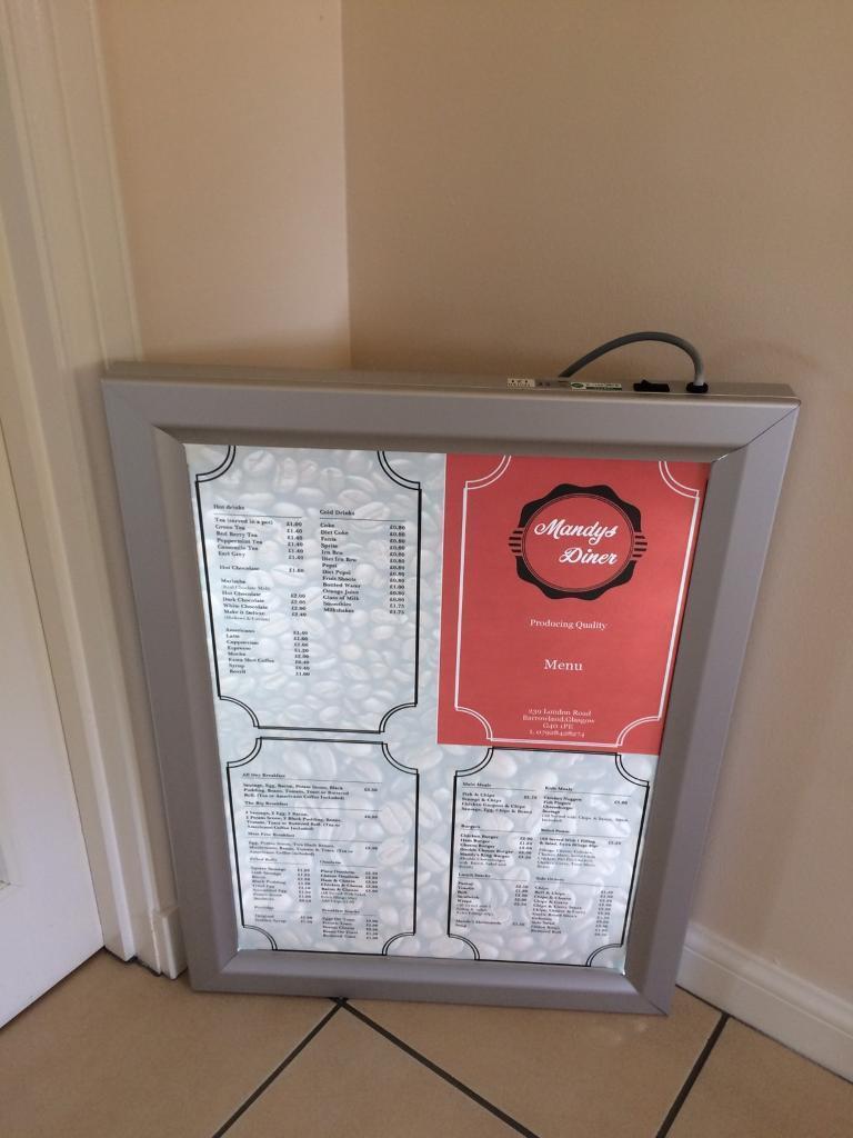 Restaurant/Cafe Display Lightbox