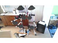 Yamaha DTXplorer Electronic/Electric/Digital Drum Kit/Set - *with 80W Stagg Amp*