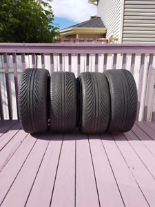 The tires and  rims