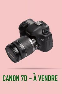 Canon 7D + Lens + Battery Grip : 1000$ nego.