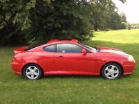 HYUNDAI COUPE MOT 5 MONTHS ALLOYS BLACK LEATHER INTERIOR AIR CON CD PLAYER-GREAT VALUE FOR MONEY