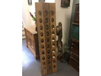 Beautiful champagne riddling rack wine rack imported Le Bans France