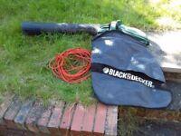 Garden leaf Hoover. Black and decker, 1600 watt
