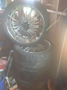 """22"""" Rims and tires"""