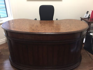 Executive Office Desk and File Cabinet