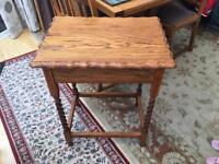 Barely twist oak table
