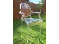 Louis Ghost Armchair by Phillipe STarck Transparent (*5 of them)