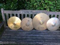 Cymbals - Cymbals - 18 Crash ride, 14 Hihats, 14 Crash - Individually Priced