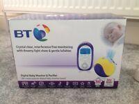 BT Digital Baby Monitor & light show pacifier