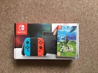 Nintendo Switch + Zelda + 128gd SD Card