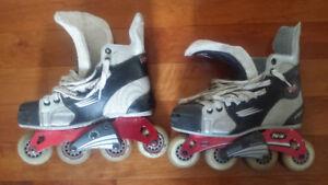 Men / Junior Bauer Vapor Inline Rollerblades / Skates Size 5.5
