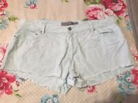 Size 16 light green/blue shorts