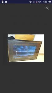 Large lighthouse framed picture