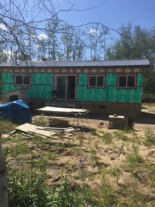Mobile home on wheels to be move