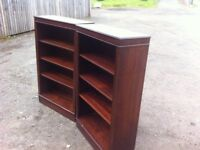 Matching pair of mahogany bookcases