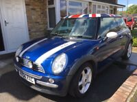 Very Low Mileage Mini Cooper Metallic Blue 1.6 Petrol Manual (only 59,700) just serviced and MOT'd