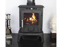 CASTMASTER cast iron aldbury wood burning multi fuel stove 5KW