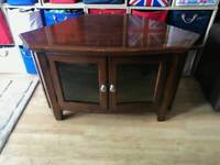 Gorgeous good quality heavy tv cabinet with glass shelf