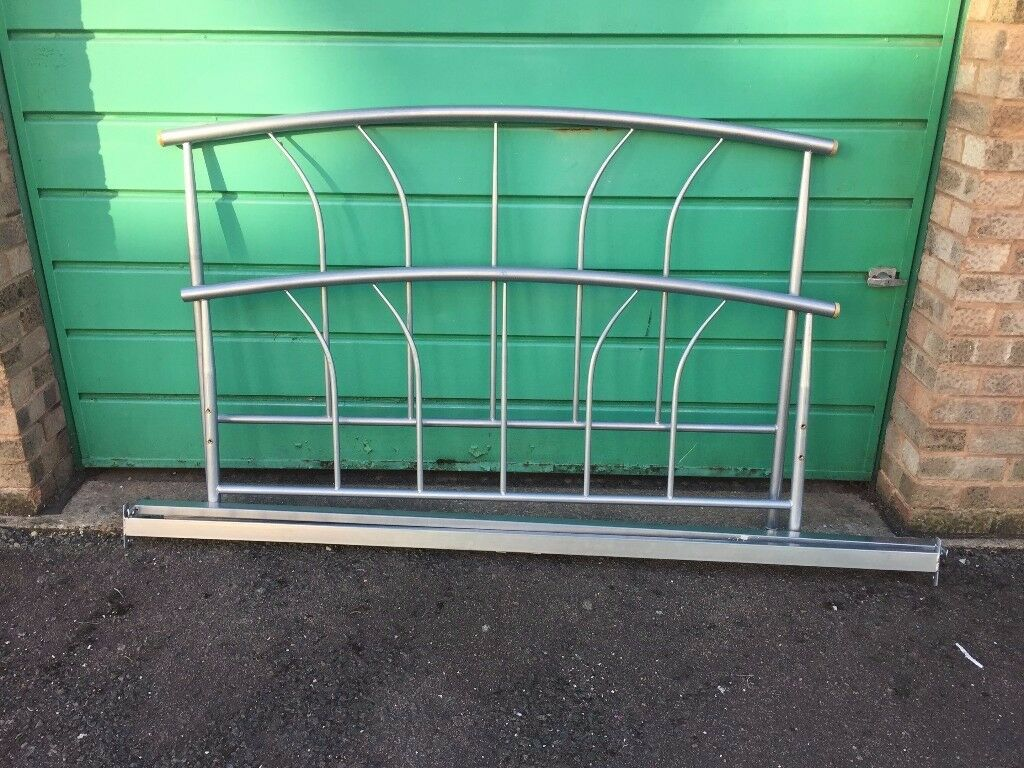Double silver metal bed